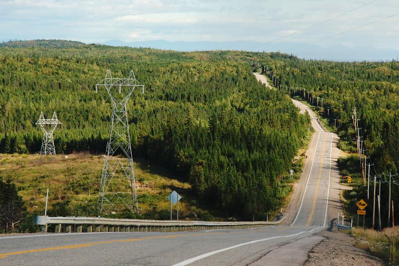 Route 138 entre Godbout et Baie-Trinité