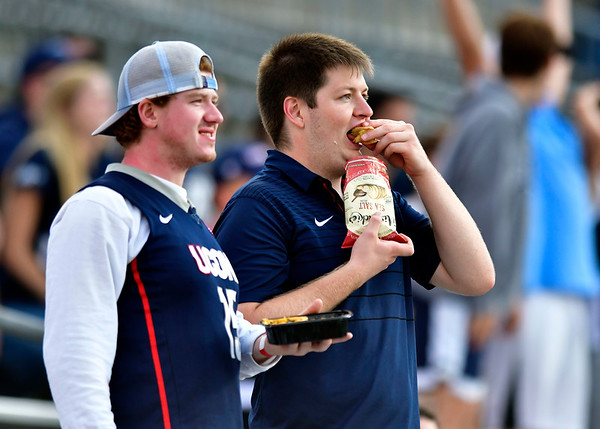 9/29/2018 Mike Orazzi   Staff UConn fans during Saturday football game with Cincinnati.