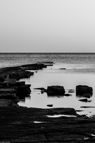 Kimmeridge Bay - Monochrome