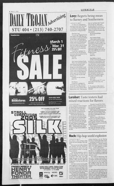 Daily Trojan, Vol. 154, No. 33, March 02, 2005