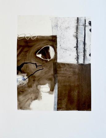 B&W abstract-Mackey (MM15-35)-Mackey, painting on 22x30 paper
