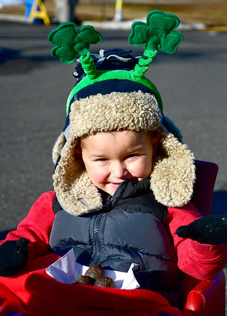 3/16/2019 MIke Orazzi | Staff Mason Newton,3, during the 17th Annual Shamrock Run & Walk at Chippens Hill Middle School on Saturday in Bristol.