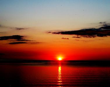 """Crimson Sunset"" (digital photo) by Luke Engle"