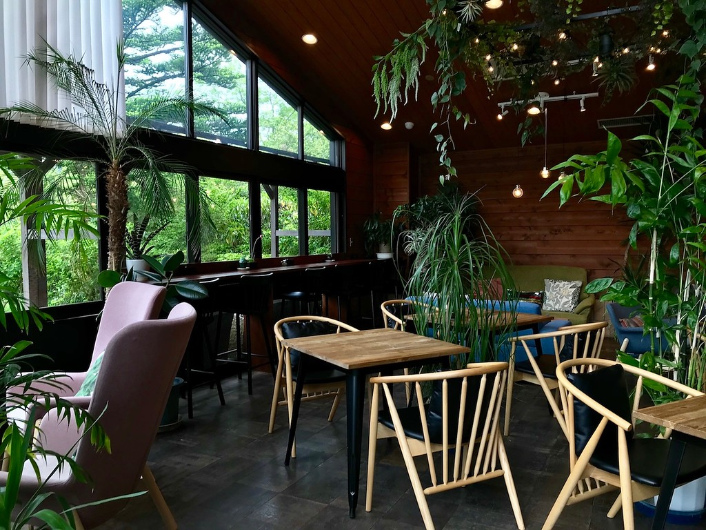 At the botanical gardens cafe.
