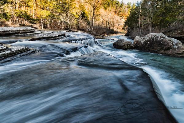 Elk and Waterfalls
