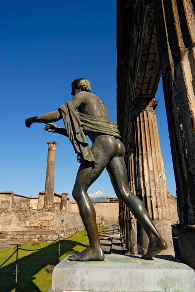 Bronze Statue of Pagan God Apollo, Pompeii (Italy)