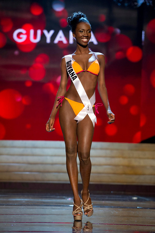 . Miss Guyana 2012 Ruqayyah Boyer competes during the Swimsuit Competition of the 2012 Miss Universe Presentation Show at PH Live in Las Vegas, Nevada December 13, 2012. The Miss Universe 2012 pageant will be held on December 19 at the Planet Hollywood Resort and Casino in Las Vegas. REUTERS/Darren Decker/Miss Universe Organization L.P/Handout