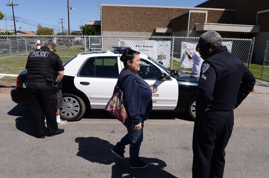 . Operation Back in School, a multi-agency task force in the Harbor area to sweep up truant kids who should be in school. No citations were issued in a friendlier approach to the problem that offered counseling for kids and parents. Photo by Brad Graverson 4-10-13