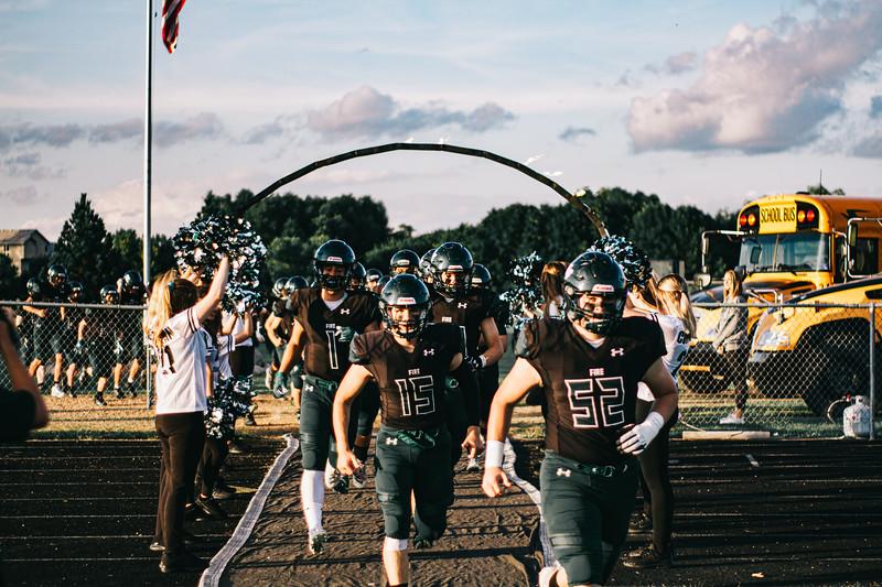 Holy Family Varsity Football vs. Dassel-Cokato, 9/6/19: Captain Nick Hendler '20 (15)