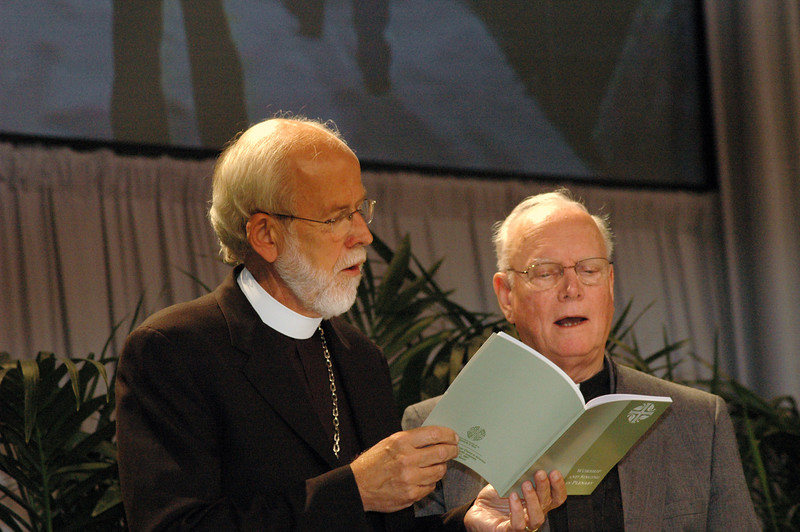 Presiding Bishop Mark Hanson and former Presiding Bishop H. George Anderson