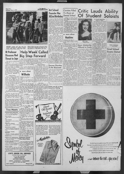 Daily Trojan, Vol. 44, No. 53, December 01, 1952