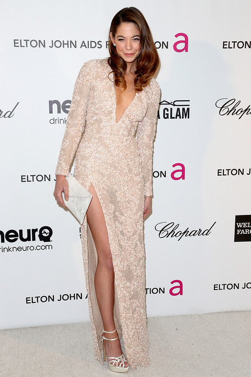 . Actress Analeigh Tipton arrives at the 21st Annual Elton John AIDS Foundation\'s Oscar Viewing Party on February 24, 2013 in Los Angeles, California.  (Photo by Frederick M. Brown/Getty Images)
