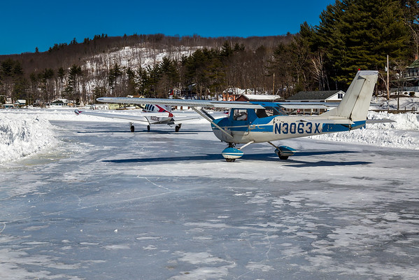 Ice Airport Alton Bay, NH 2015