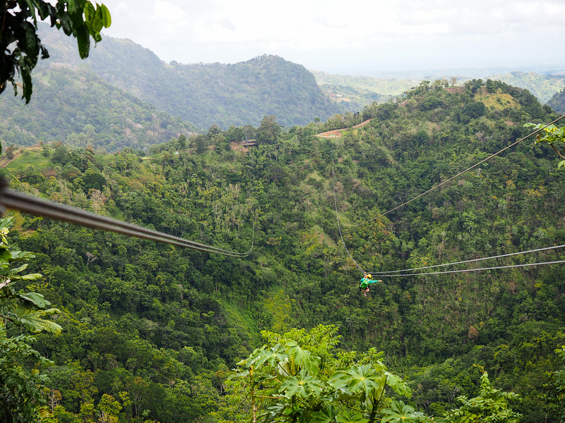 Zip lining at Toro Verde in Puerto Rico