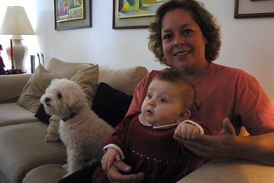 Zoe Baptism and Xmas 2004