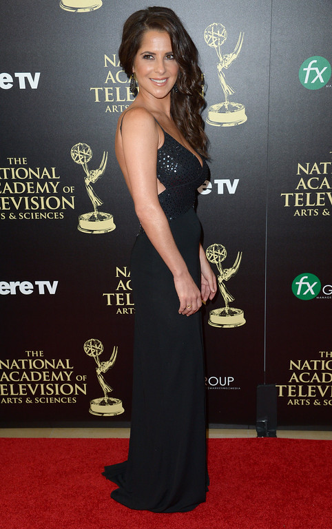 . Kelly Monaco arrives at the 41st annual Daytime Emmy Awards at the Beverly Hilton Hotel on Sunday, June 22, 2014, in Beverly Hills, Calif. (Photo by Richard Shotwell/Invision/AP)