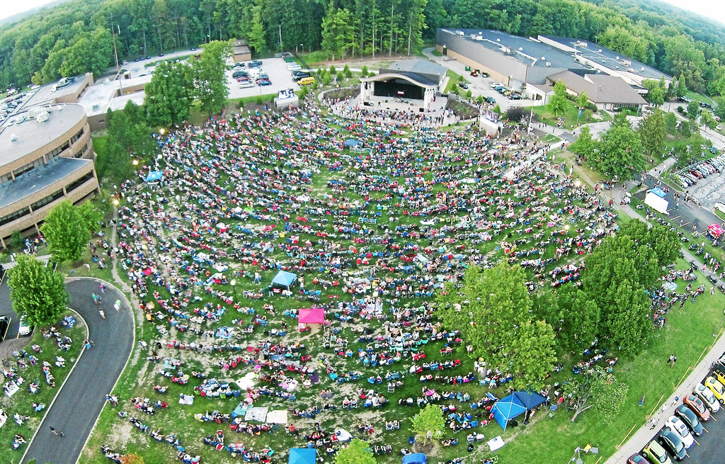 . The scene at Mentor\'s amphitheater this weekend will be similar to this one during a Mentor Rocks concert in August 2017. The Mentor AMPed Rock Music Festival is 1 to 9 p.m. at the Mentor Civic Amphitheater, 8600 Munson Road. All ages are admitted to the free event, that will include music all day, food trucks, beer and wine. For more information, visit cityofmentor.com/departments/parks-recreation/events/amped. (Submitted)