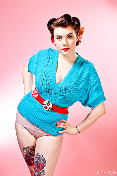 Blue Ruin - 1950's Sweater Girl!