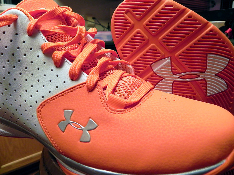 2011/11/7 - I needed new shoes for racquetball and came across these bright orange Under Armor high tops. Working at Fishbowl where everything is orange, I find orange now spilling over into the rest of my life. It is like having the deer hunt 365 days of the year (those in Utah will understand what that means).