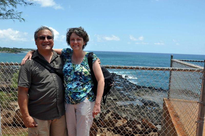 Rick & Wendy at Spouting Horn, Kauai.