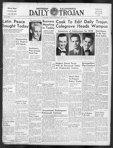 Daily Trojan, Vol. 29, No. 129, May 04, 1938