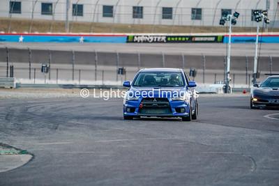 Blue Mitsubishi EVO