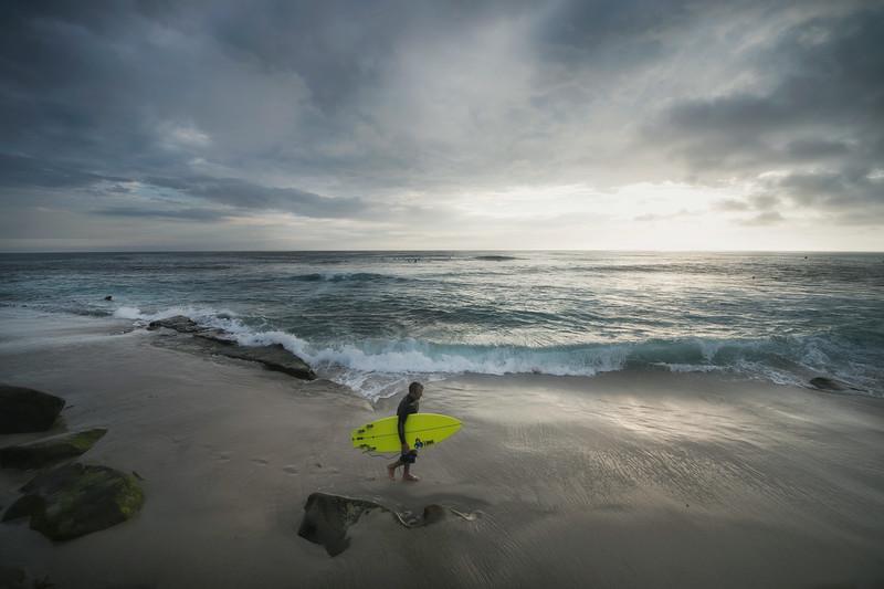 surfer at windansea
