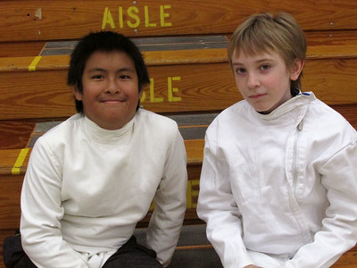 Daniel and Merrick fencing class day 1 July 7, 2014
