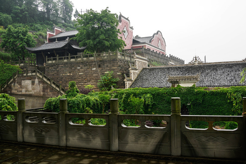 Fengdu - a relocated old mansion complex dating from the Qing dynasty that has been moved from the old river bank of the Yangtze before the Yangtze river level was raised.