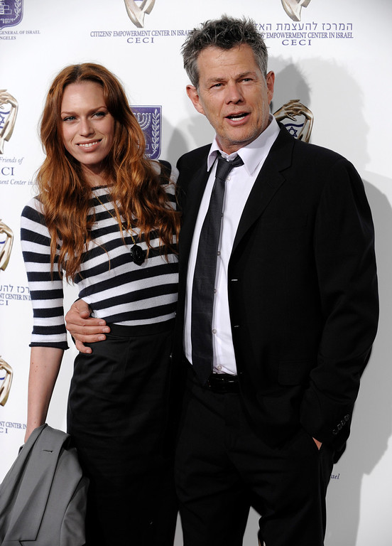 ". Music producer David Foster and his daughter Erin arrive at ""From Vision to Reality,\"" an event to celebrate the 60th anniversary of the state of Israel, at Paramount Studios in Los Angeles, Thursday, Sept. 18, 2008. (AP Photo/Chris Pizzello)"