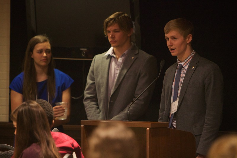 Gardner-Webb University's Life Of The Scholar (LOTS) participants present their thesis projects; Spring 2016. Conner Bos