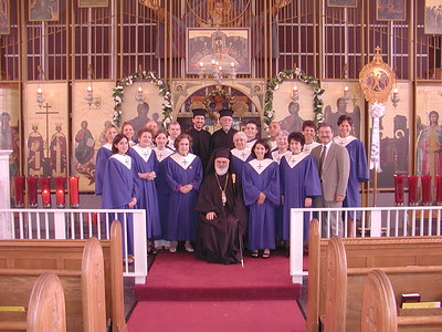Community Life - Choir Photo with Metropolitan - May 16, 2004