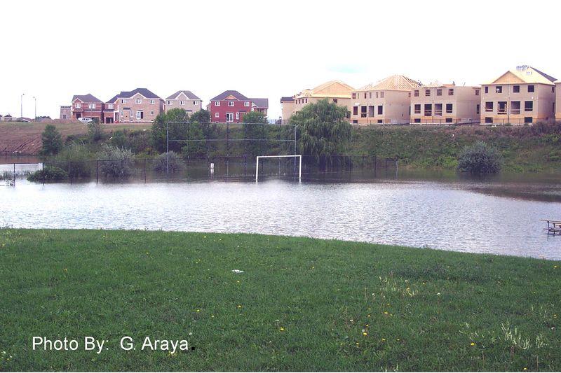 THE GREAT FLOOD OF 2005.  MAJOR OAKS PARK (BRAMPTON)