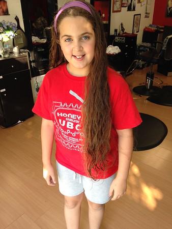 Hanna's second haircut: 8/22/15