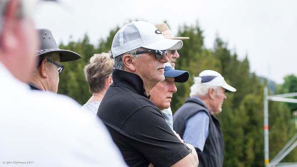 Fans watching the action on the final day of the Asia-Pacific Amateur Championship tournament 2017 held at Royal Wellington Golf Club, in Heretaunga, Upper Hutt, New Zealand from 26 - 29 October 2017. Copyright John Mathews 2017.   www.megasportmedia.co.nz