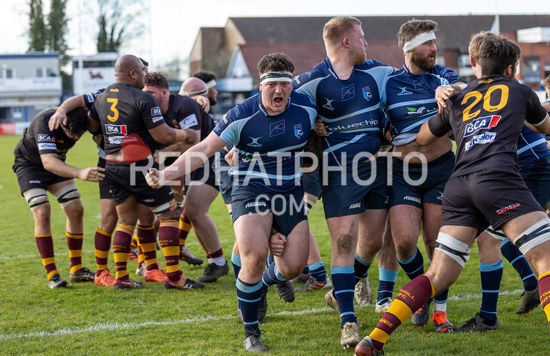 Bedford Blues vs Ampthill Rugby, Friendly, Goldington Road, 27 February 2021