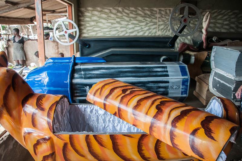 Creative coffin designs in Accra, Ghana