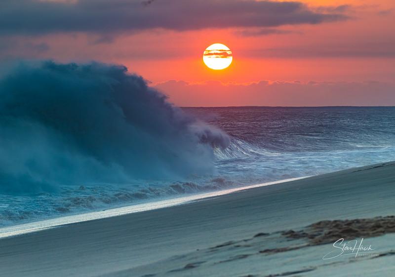 Cabo wave sunset