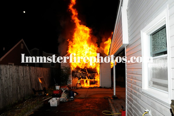 2018-06-29 BFD garage fire Sherman Ave 6-28-18 2336 hrs
