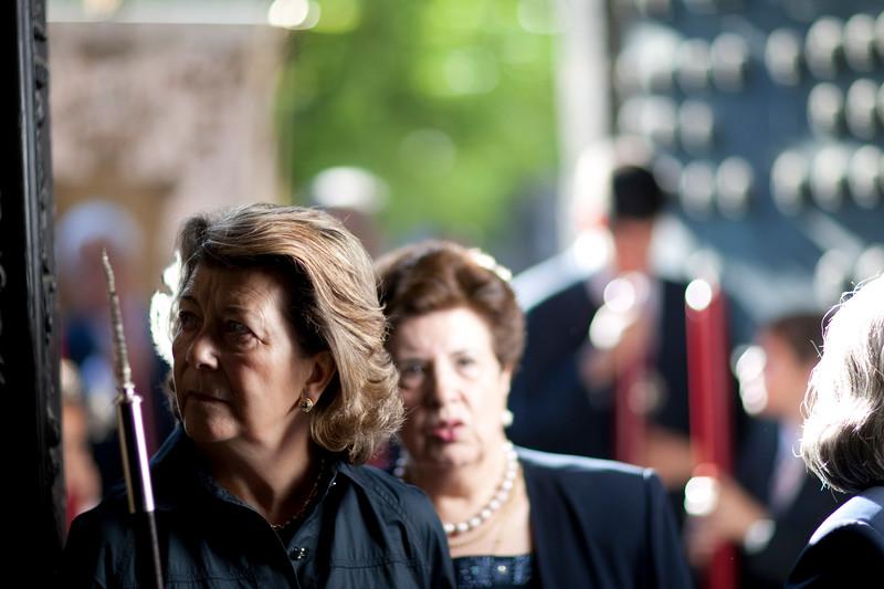 Women in the Corpus Christi procession, Seville, Spain, 2009.