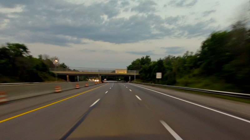 Highway at Night in Pennsylvania