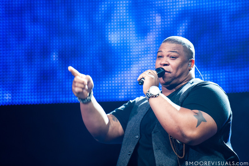 """Michael """"Big Mike"""" Lynch performs during the American Idol Live! Tour at St. Pete Times Forum in Tampa, Florida on August 4, 2010."""