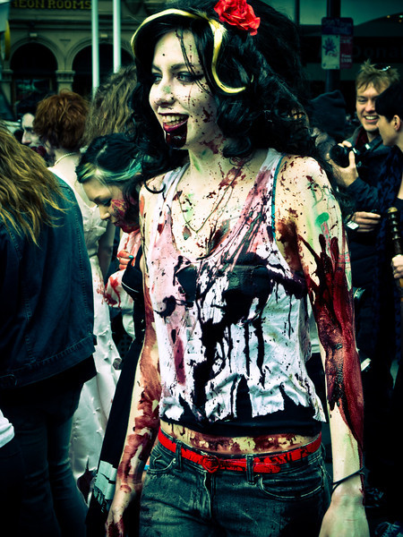 Lady Zombie on Swanston Street