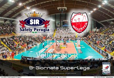 9ª #SuperLega «Sir Safety Conad Perugia - Exprivia Molfetta»