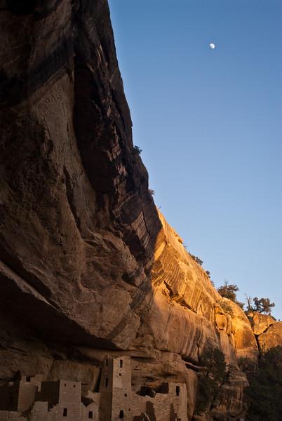 Moon Over Mesa Verde