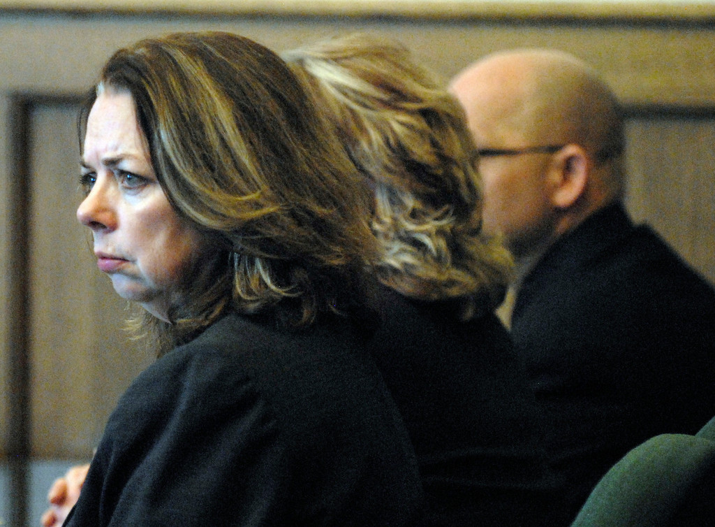 . Jeff Forman/JForman@News-Herald.com Chief Lake County Prosecutor Karen Kowall listens as the jury is polled Feb. 21 following Nathaniel Brown\'s verdict.