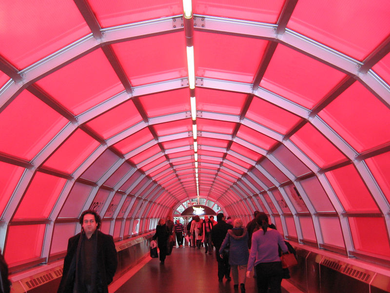"""Red Tunnel (submitted to Photo Friday for """"Pink"""")"""