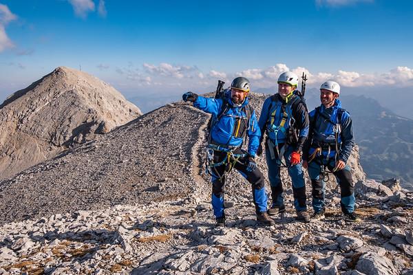 Alpy - Masiv Dachstein - Ferrata Ramsauer - Hoher Gamsfeldspize (2665m) - říjen 2018