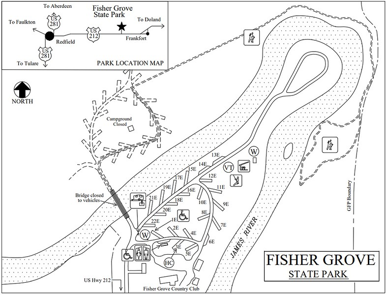 Fisher Grove State Park (Campground Map)