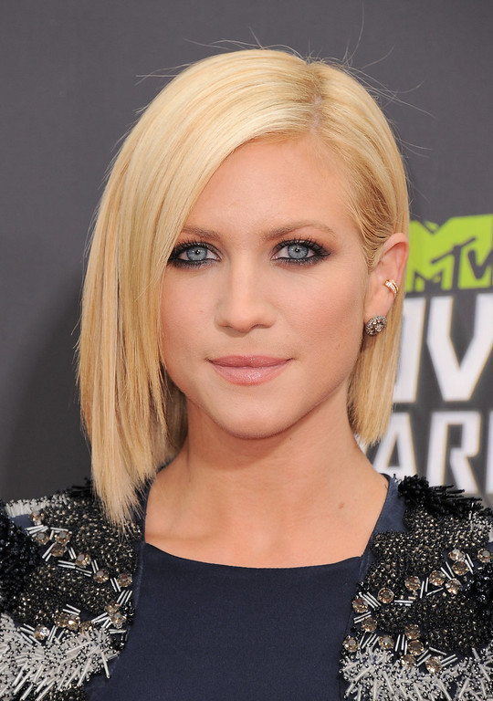 . Brittany Snow arrives at the MTV Movie Awards in Sony Pictures Studio Lot in Culver City, Calif., on Sunday April 14, 2013. (Photo by Jordan Strauss/Invision/AP)